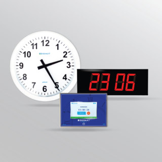 Wireless and Wired Synchronized Clock Systems